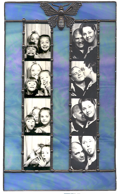 Whispering Willow Handcrafted Stained Glass Photobooth Picture Frames