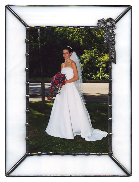 White Victorian Bow Picture Frame