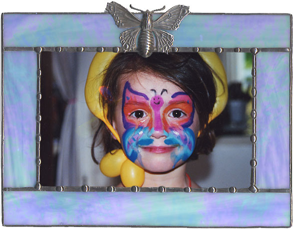 Blue Moth Picture Frame