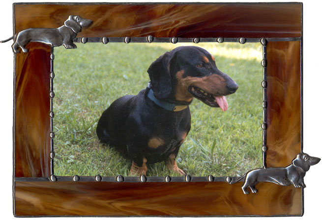Brown Dachshund Picture Frame