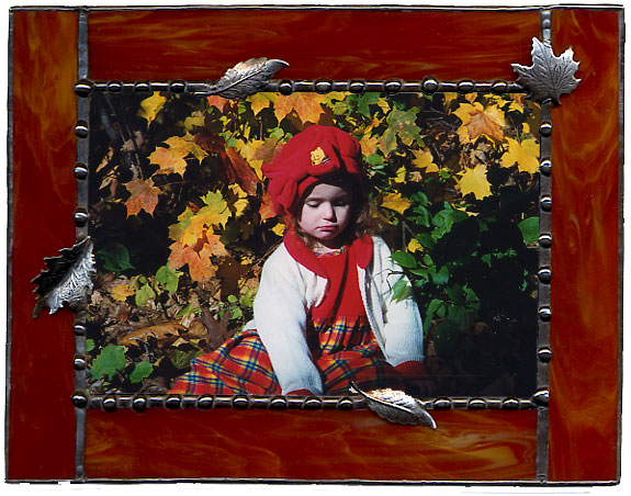 Brown Autumn Leaves Picture Frame