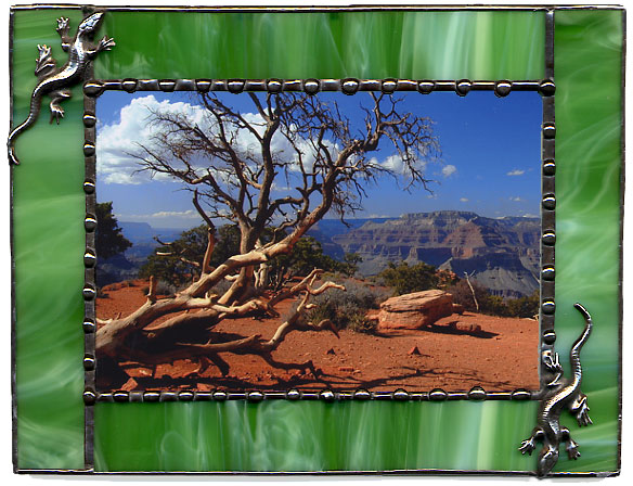 Green Lizards Picture Frame