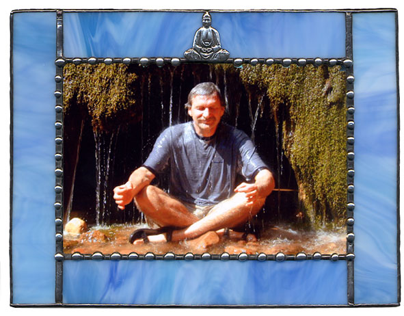 Blue Buddha Picture Frame